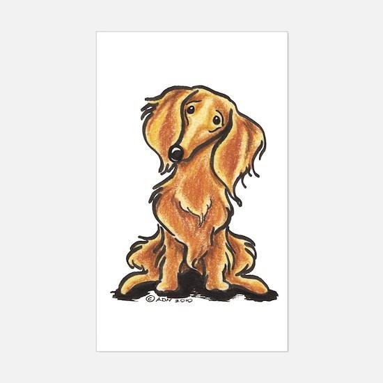 Longhair Dachshund Lover Sticker (Rectangle)