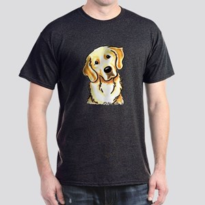 Golden Retriever Portrait Dark T-Shirt
