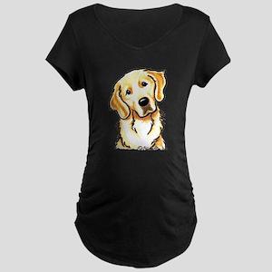Golden Retriever Portrait Maternity Dark T-Shirt