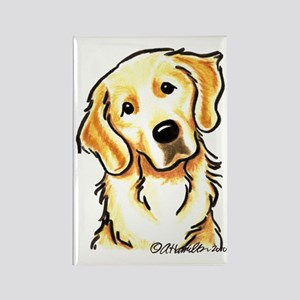 Golden Retriever Portrait Rectangle Magnet
