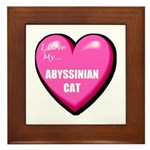 Abyssinian Cat Lover Framed Tile