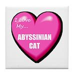 Abyssinian Cat Lover Tile Coaster