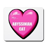 Abyssinian Cat Lover Mousepad
