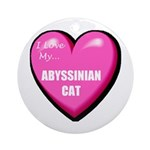 Abyssinian Cat Lover Round Ornament