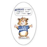 Cartoon Hamster Sticker (Oval 10 pk)