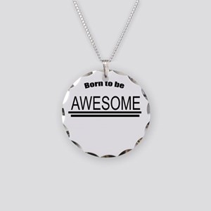 Awesome-White Necklace Circle Charm