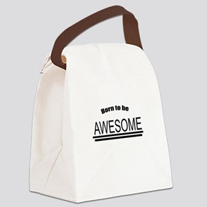 Awesome-White Canvas Lunch Bag
