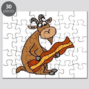 Funny Goat Bacon Lover Puzzle
