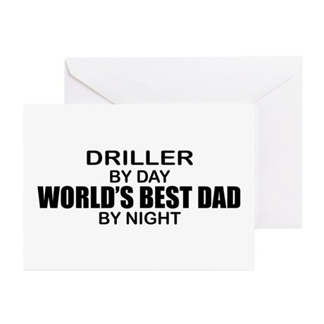 World's Best Dad - Driller Greeting Cards (Pk of 1