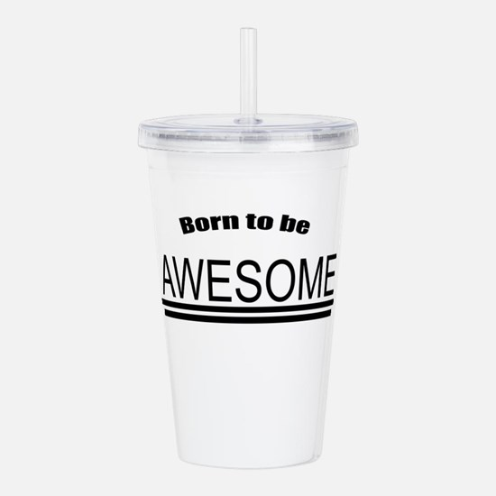Awesome-White Acrylic Double-wall Tumbler