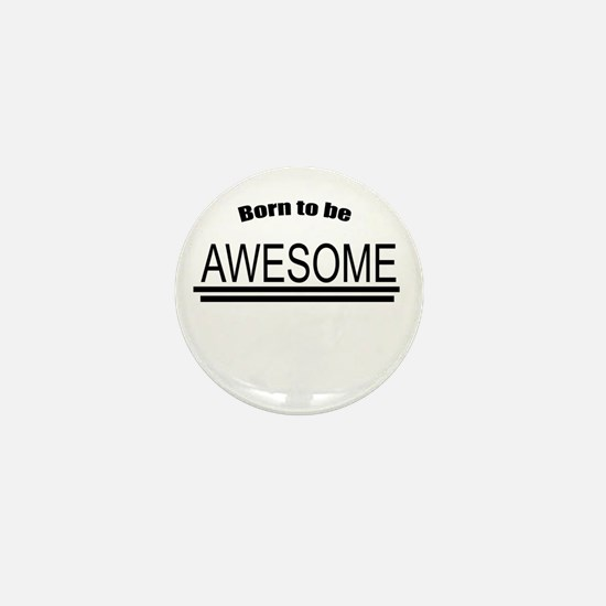 Awesome-White Mini Button