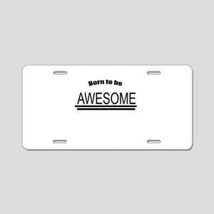 Awesome-White Aluminum License Plate