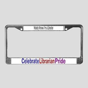 Nobody/Celebrates Librarians License Plate Frame
