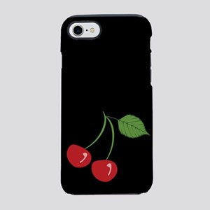 retro-cherry_black_ff iPhone 7 Tough Case