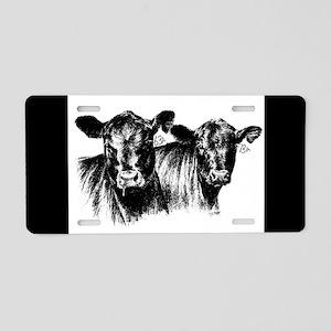 Cows Aluminum License Plate