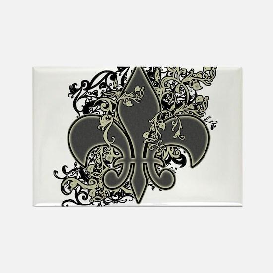 Fleur De Lis (Baroque) Rectangle Magnet