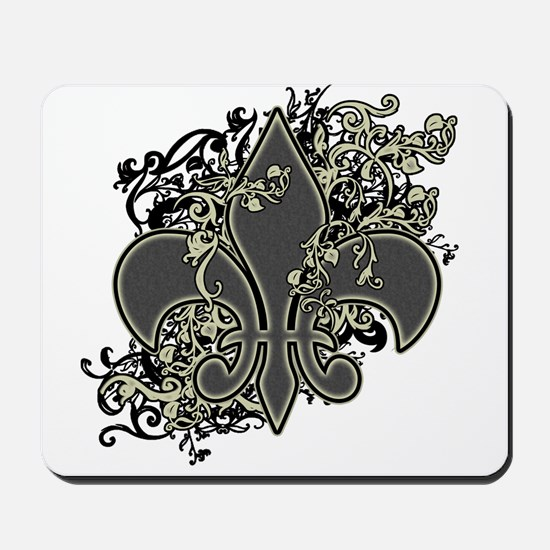 Fleur De Lis (Baroque) Mousepad