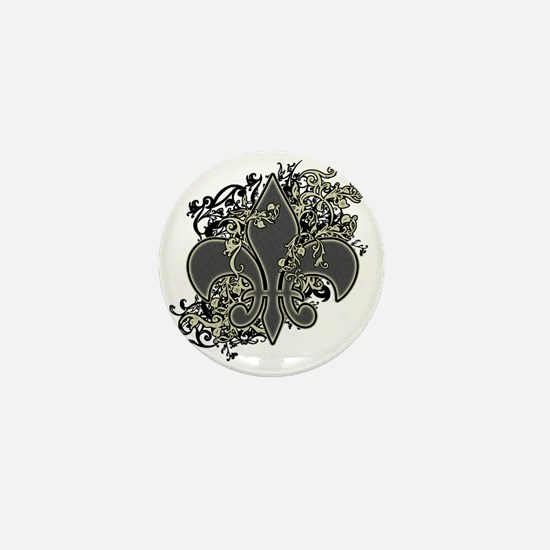 Fleur De Lis (Baroque) Mini Button