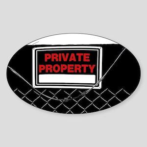 Private Property Sign Sticker