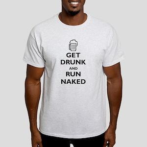 Get Drunk and Run Naked (paro Light T-Shirt