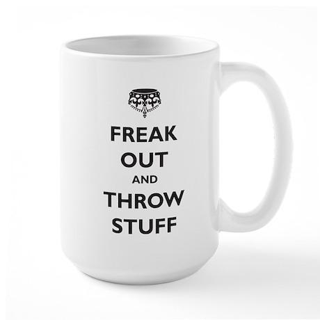 Freak Out and Throw Stuff (pa Large Mug