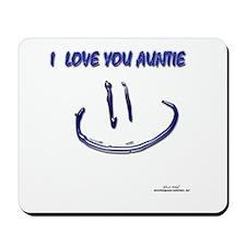 I Love Auntie Mousepad