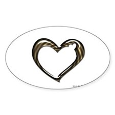 Heart of Love Sticker (Oval)
