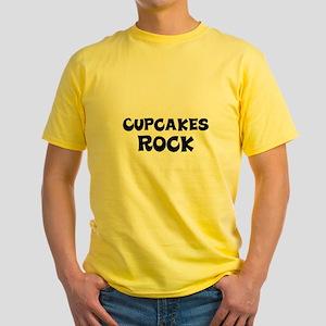 Cupcakes Rock Yellow T-Shirt