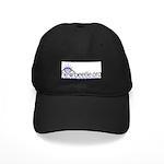 Black Baseball Cap (Blue Logo)