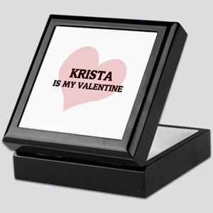 Krista Is My Valentine Keepsake Box