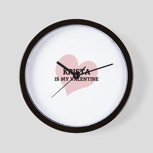 Krista Is My Valentine Wall Clock