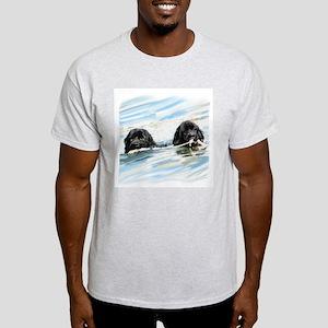 newfoundlands swimming Light T-Shirt