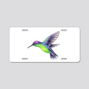 Cut Paper Green and Purple Aluminum License Plate