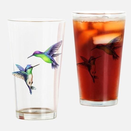 Cute Hummingbird Drinking Glass