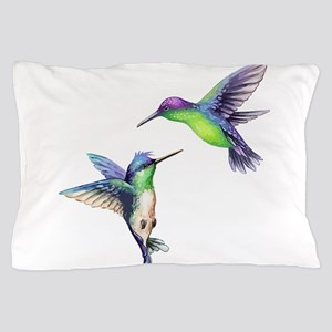Pair of Metallic Green Blue and Purple Pillow Case
