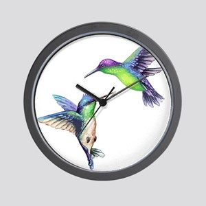 Pair of Metallic Green Blue and Purple Wall Clock