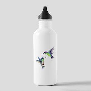 Pair of Metallic Green Stainless Water Bottle 1.0L