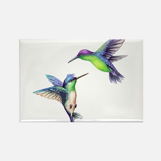 Pair of Metallic Green Blue and Purple Hum Magnets