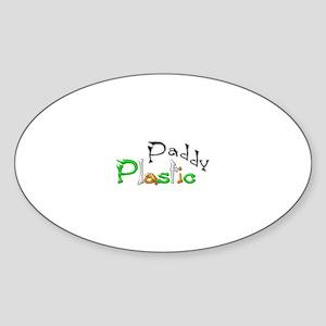 Plastic Paddy Oval Sticker