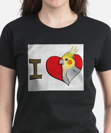 I heart cockatiels Ash Grey T-Shirt
