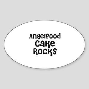 Angelfood Cake Rocks Oval Sticker