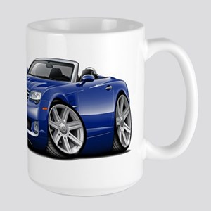 Crossfire Blue Convertible Large Mug