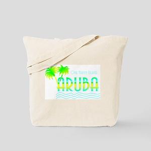 Aruba Palm Trees Tote Bag