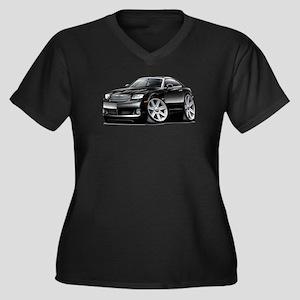 Crossfire Black Car Women's Plus Size V-Neck Dark