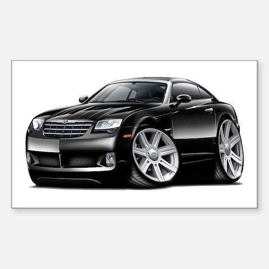 Crossfire Black Car Sticker (Rectangle)