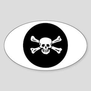 Jolly Roger Sticker (Oval)