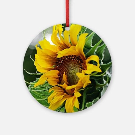 Sunflower Round Ornament