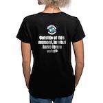 Outside This Moment Women's V-Neck Dark T-Shirt