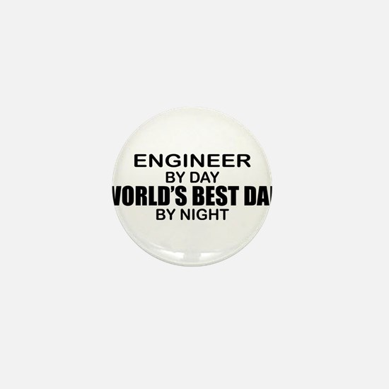 World's Best Dad - Engineer Mini Button
