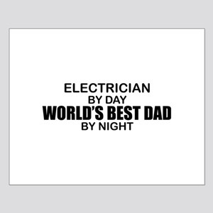 World's Best Dad - Electrician Small Poster
